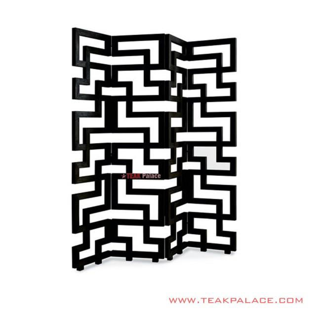 Sketsel Tetris Chikao Kayu Jati Hitam Minimalis