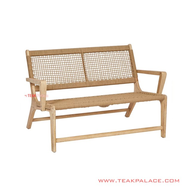 African Relaxing Bench Natural Minimalist Rattan Wicker