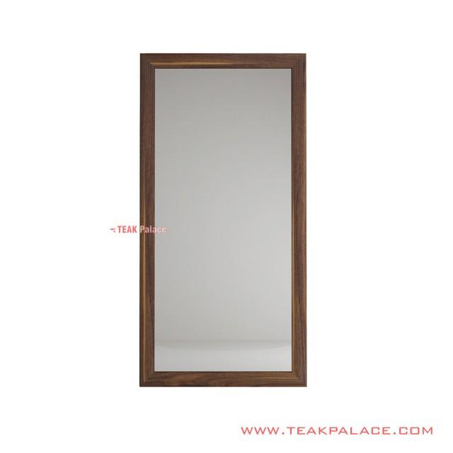 Wall Mirror Frame Dark Salak Brown Teak Wood Jimmy Series