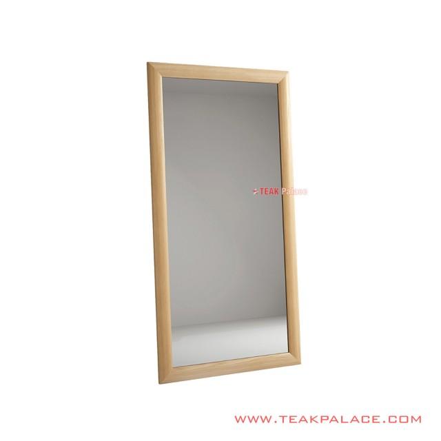 Minimalist Wall Mirror Natural Wood Frame Jimmy