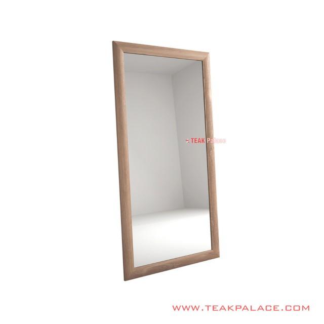 Jimmy Minimalist Mirror Wall Salak Brown