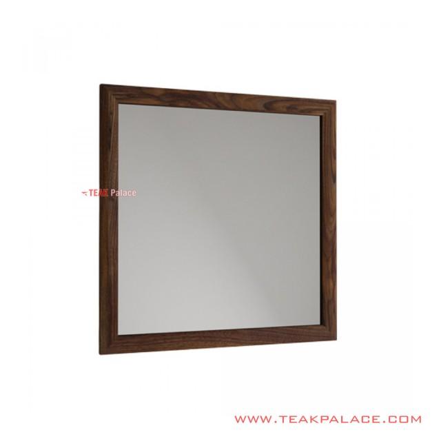 Cermin Dinding Jimmy Kayu Jati Salak Brown Tua