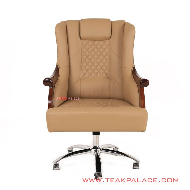 Chairman Office Chair Light Brown Leather