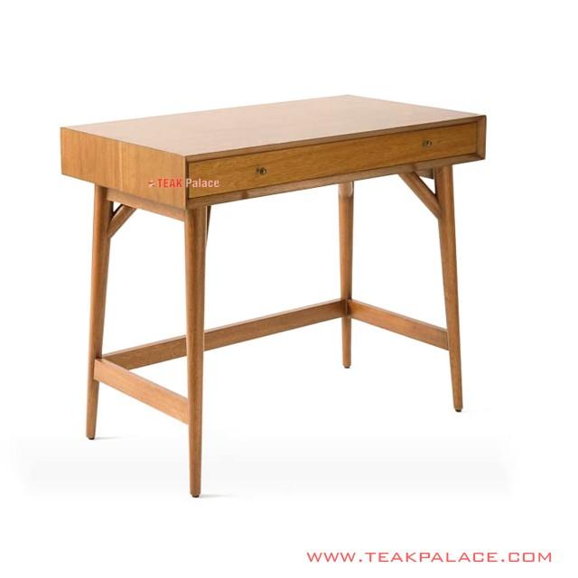 Meja Belajar Bafilo Minimalis Golden Teak Wood