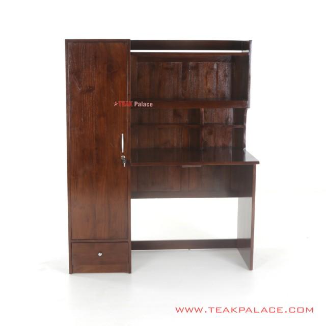Minimalist Teak Wood Mela Cupboard Study Table