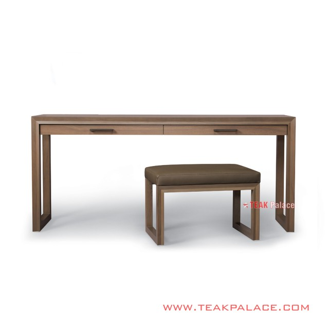 Minimalist Study Table Set Chair Teak Wood  Aries Series
