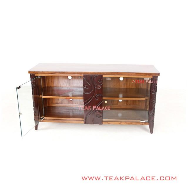 TV Table Modern Carved Teak Padang Series