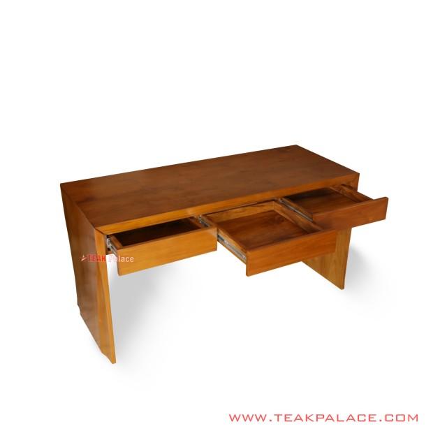 Vista Series Minimalist Teak Wood Workbench