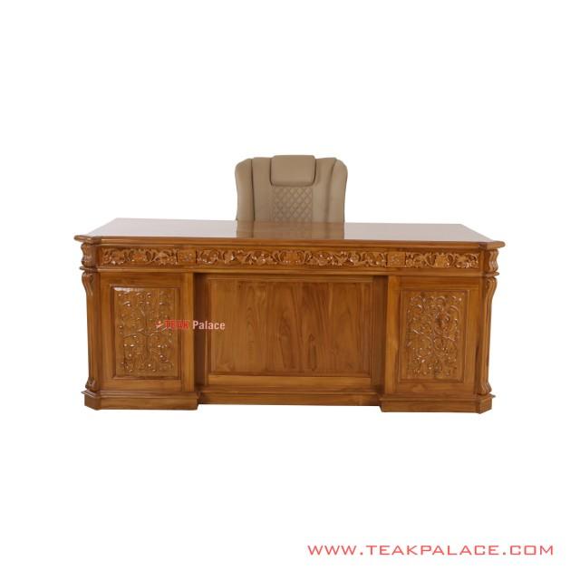 Set Kursi Meja Kantor Palembang Jati Minimalis