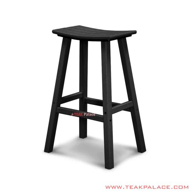 Kursi Bar Kayu Jati Stool Minimalis Black