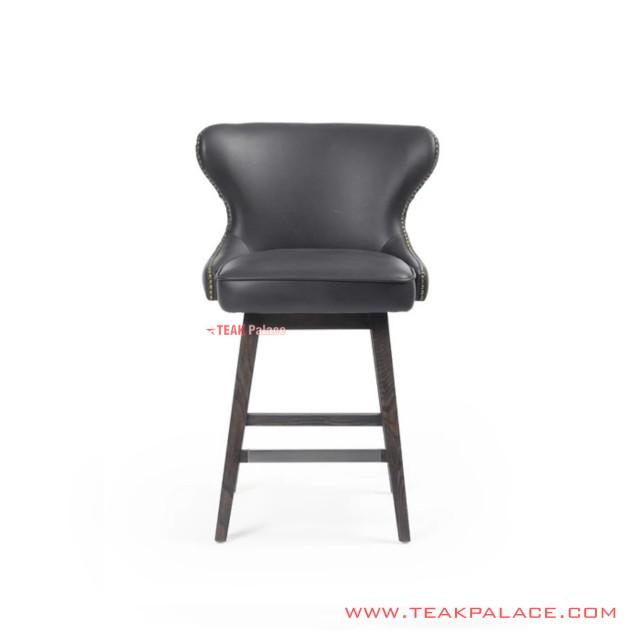 Serbia Minimalist Black Seat Bar Stools