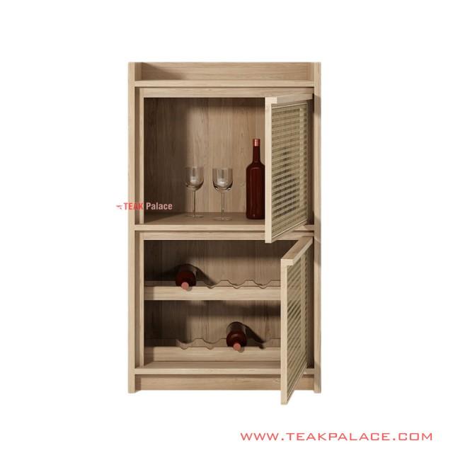 Adela Teak Bar Minimalist Bar Cabinets