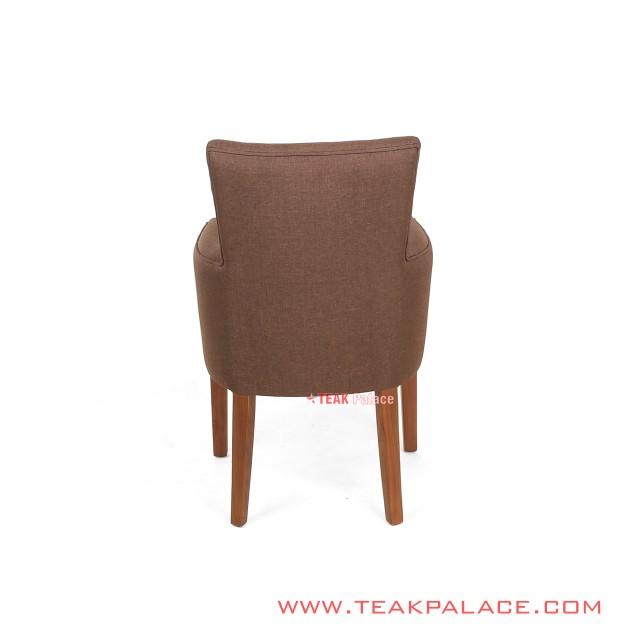 ArmChair Minimalist Brown Cloth Wilona Series