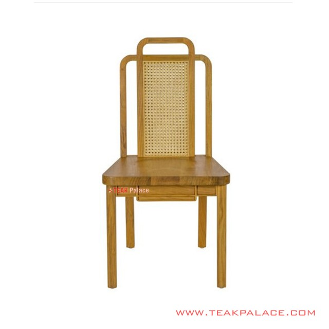 Dining Chairs Minimalist Golden Teak Rattan Wicker Deco Series