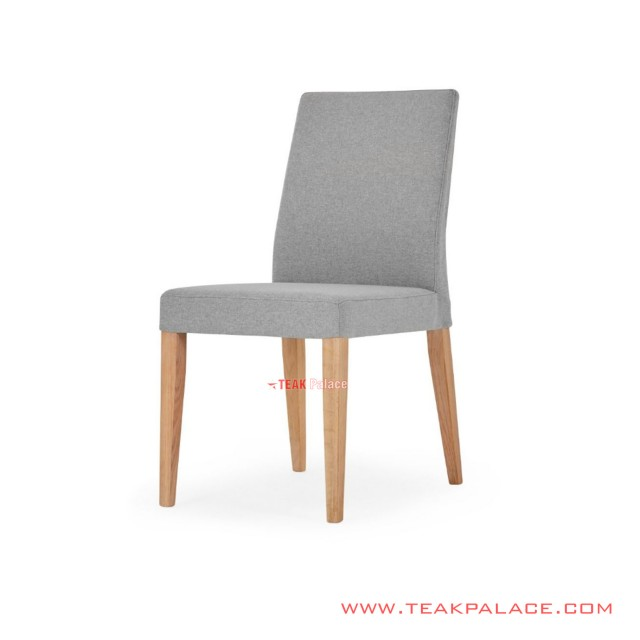Dining Chairs Teak Wood Natural Upholstery Gauri Series