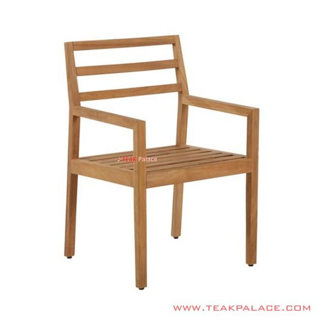 Dario Natural Minimalist Teak Wood Dining Chair