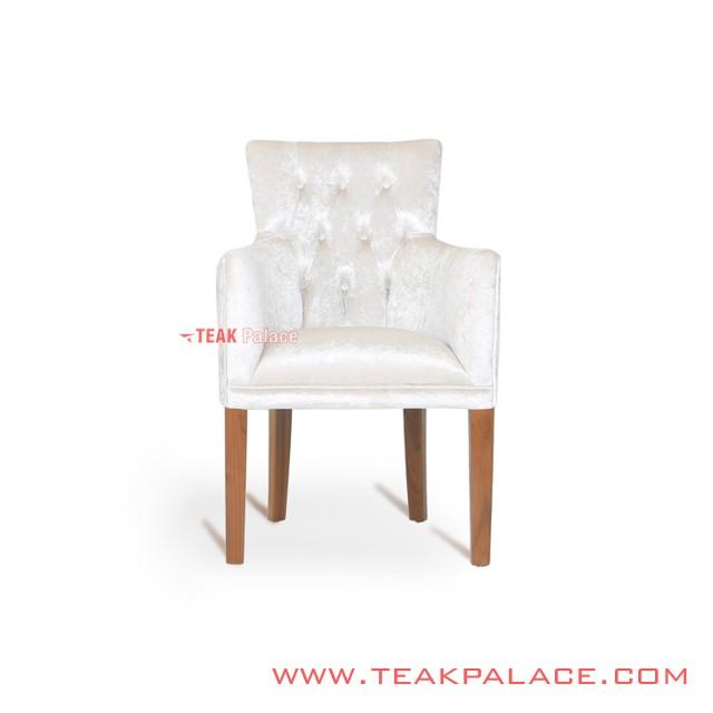 Teak Sofa Chair Wilona Putih single seater