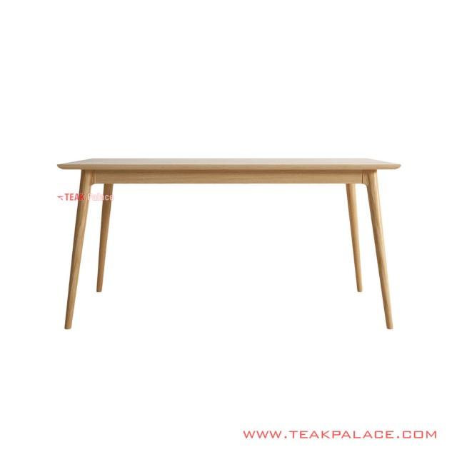 Dining Table Regan Kayu Natural 180 Cm