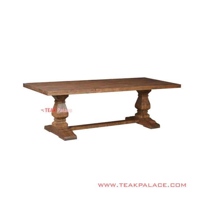 Classic Salak Brown Chipped Teak Dining Table Series