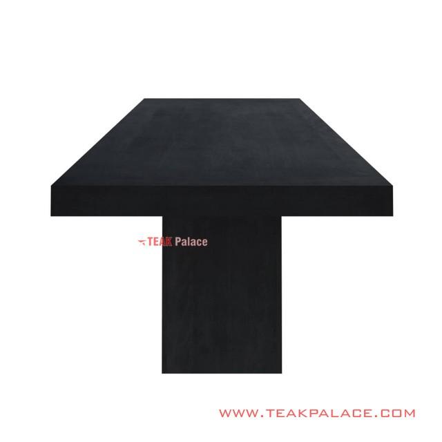 Meja Makan Black Mewah Jati 10 orang Seri Wilona