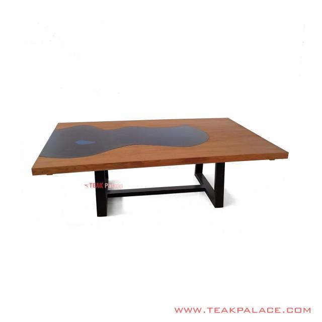 Minimalist Excel Iron Leg Dining Table