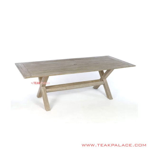 Cafe Table Bibury Minimalist White Wash Rustic