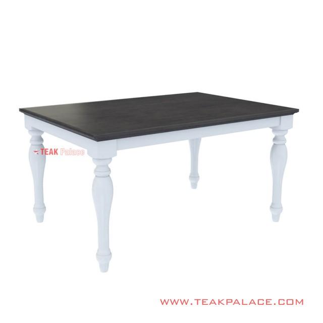Meja Makan Black Kotak Duco Putih Minimalis Seri Semarang