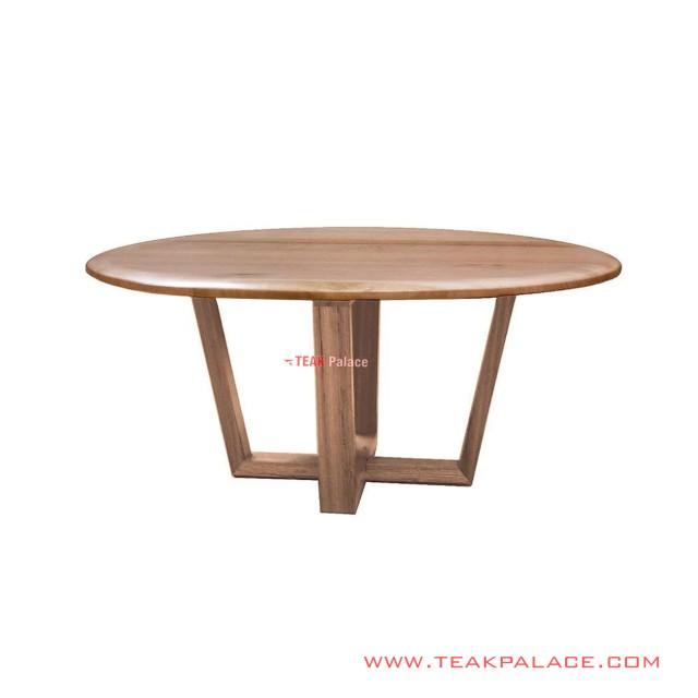 Cikeas Teak Minimalist Round Dining Table