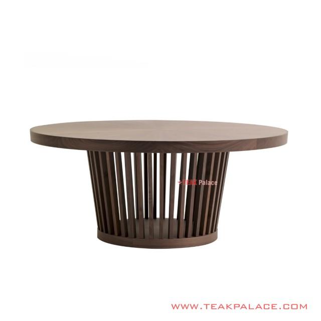 Meja Makan Minimalis 6 Seater Ogawa Black Walnut