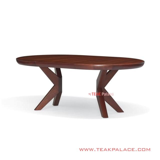 Meja Makan Oval Minimalis 4 Kursi Seri Mona