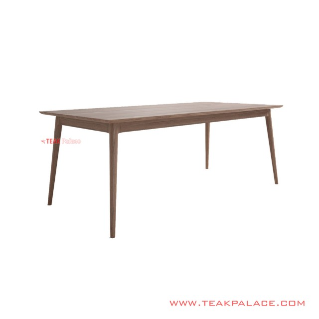 Dining Table Salak Brown Muda Minimalis Regan 180 Cm