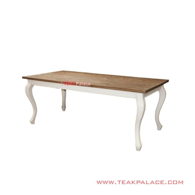 Aulia Series White Rustic Minimalist Classic Dining Table