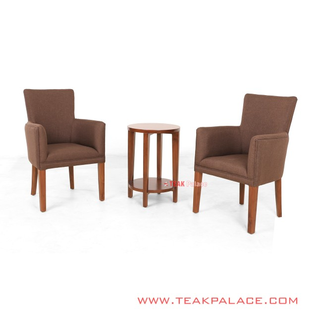 Terrace Chair Set of color brown Wilona Series