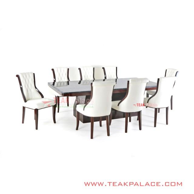 Dining Table Luxury Marble Minimalist 8 Chairs Bulgari