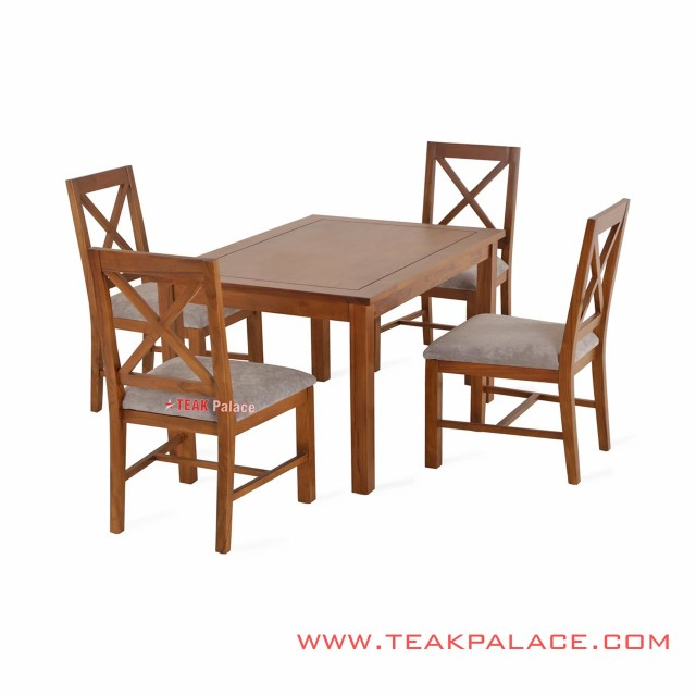 Table 4 Dining Chair Set Melia Golden Teak Doff