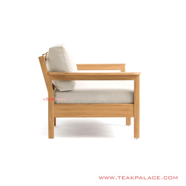Sofa Mouila Single Minimalis Jati Golden Teak