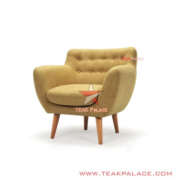 Sofa Retro Modern Kayu Jati Seri Dina