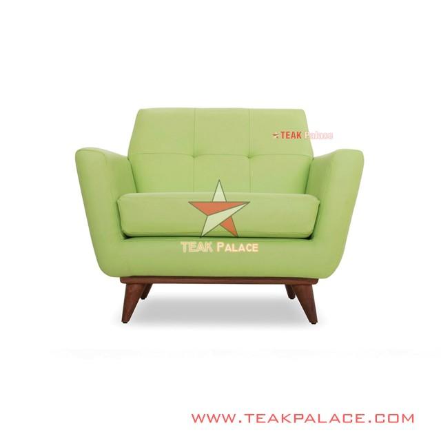 Armchair Sofa Minimalais Single Seri Hugo