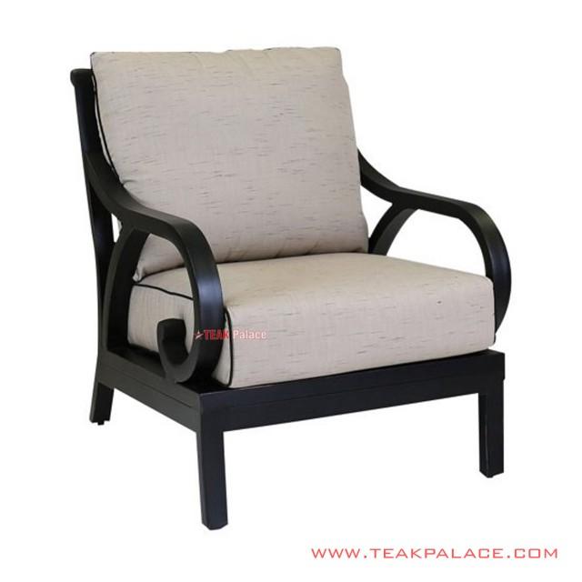 Sofa Minimalis Single Hitam Kayu Jati Seri Cassia