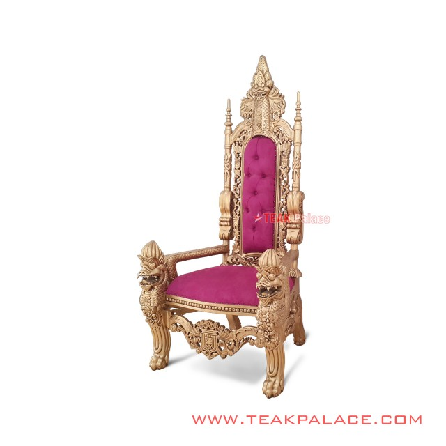 Kursi Ukir Klasik Seri Raja Emas Minimalis