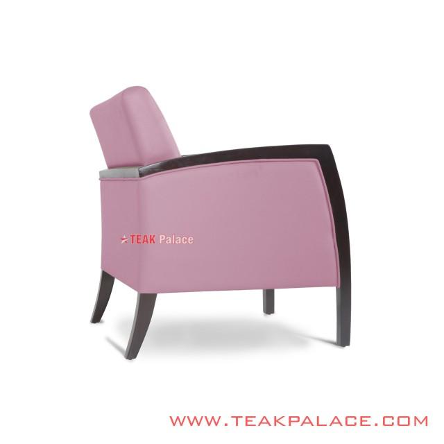Sofa Minimalis Oscar Pink Seri Kuta Single Seater