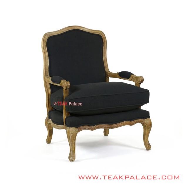 Guest Sofa Lasinta Series Black Teak Minimalist