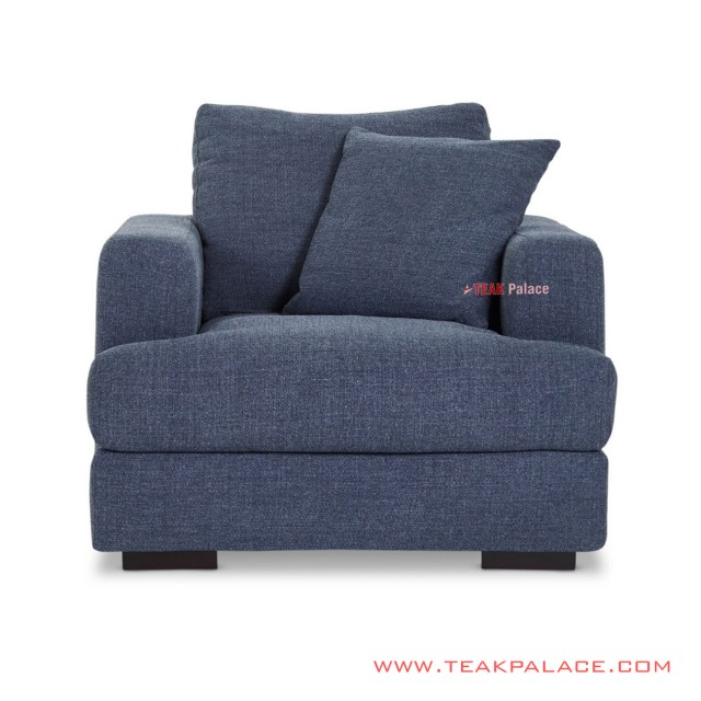 Sofa Tamu Single Truman Denim Minimalis