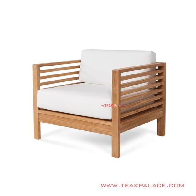 Sofa Bangku Single Kebumen Minimalis With White Cushion