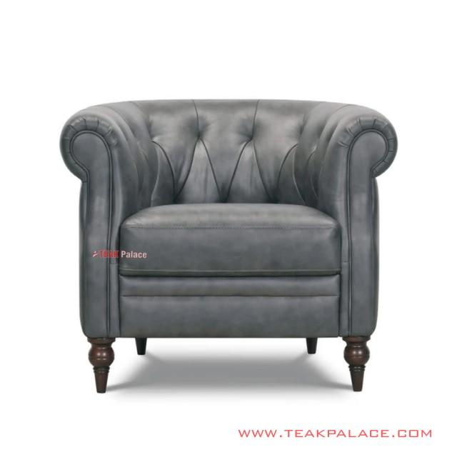 Single Chair Chester Minimalis Jati