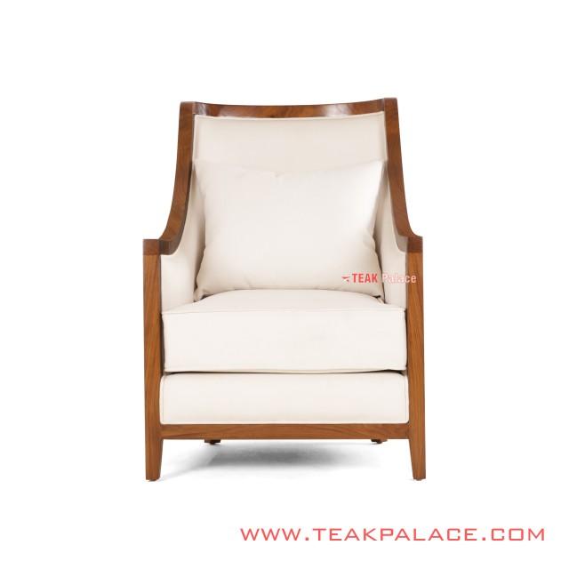 Minimalist White Teak Solid Amarytha Guest Chairs