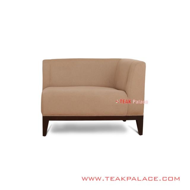 Sofa Single Sudut Jati Aries Minimalis