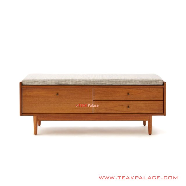 Bench Indoor With Minimalist Teak Drawer Bafilo Series