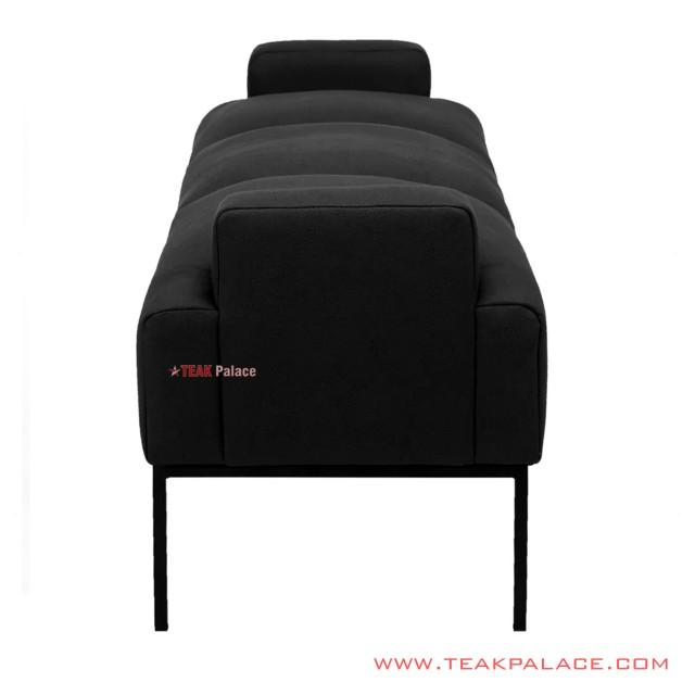 Bangku Upholster Black Kansas Minimalis