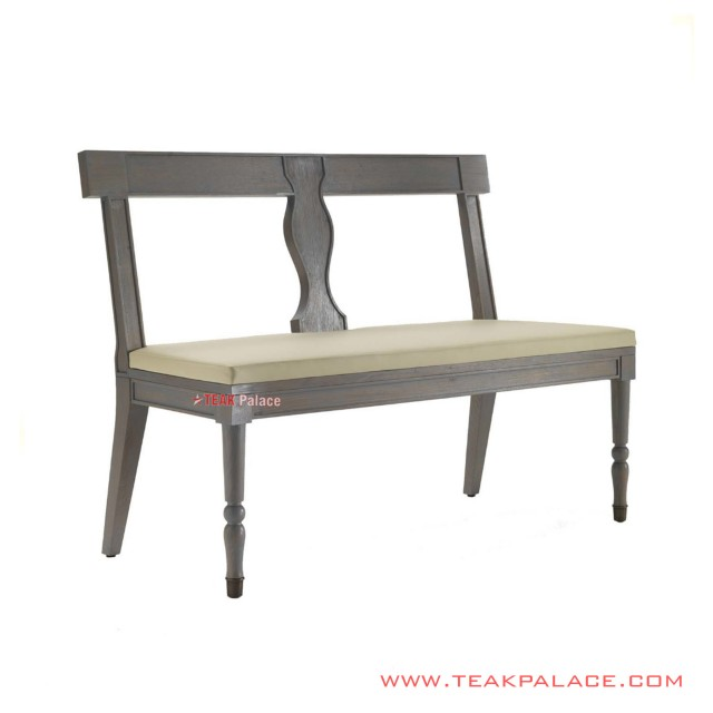 Allesia Rustic Terrace Bench With Oscar Cushion